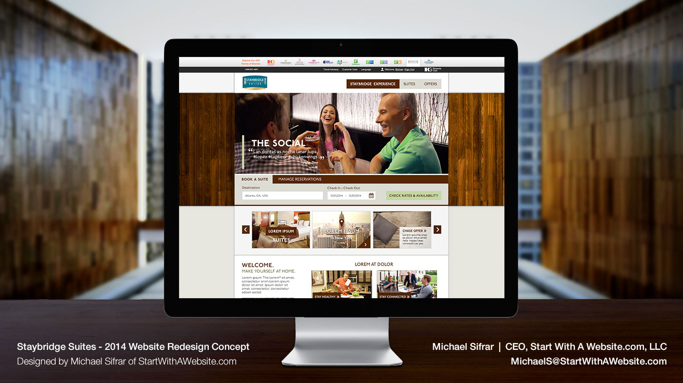 Staybridge Suites Website