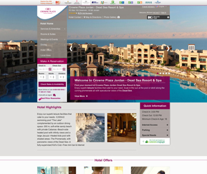 Crowne Plaza Hotels Website