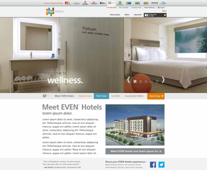 EVEN™ Hotels - Website Redesign 2014