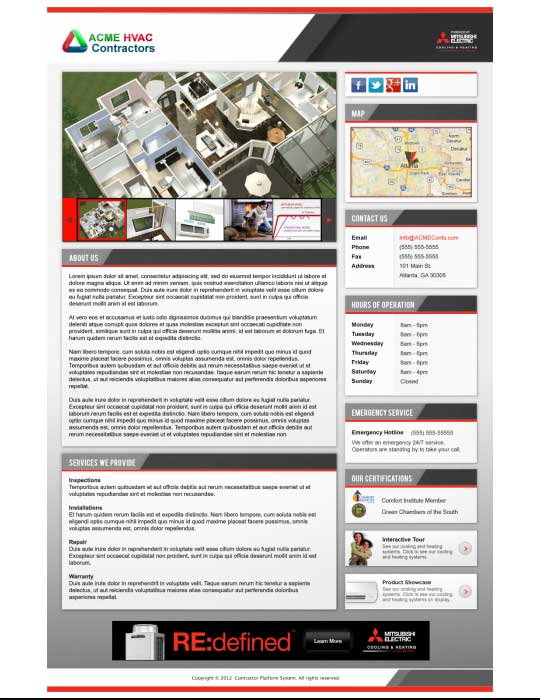 Mitsubishi Electric Website Themes